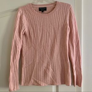 Banana Republic ribbed blush merino wool sweater